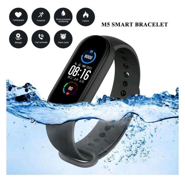 Smartwatch Original M5 Inteligente Banda Monitor Medidor De Freq Ncia Aca De Fitness - Foto 4