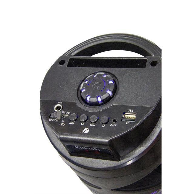 Caixa De Som Com Controle E Led Bluetooth Recarregavel KTS - 1091 - Foto 2
