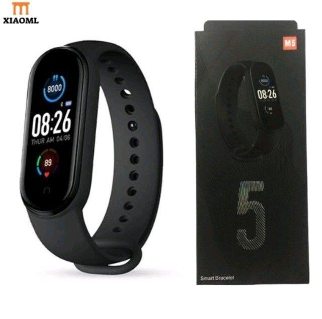 Smartwatch Original M5 Inteligente Banda Monitor Medidor De Freq Ncia Aca De Fitness