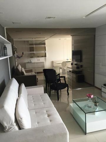 Apt 94 m², nascente, Jatiúca, 3 quartos, 2 vagas, decorado, lazer completo, só 500 mil! - Foto 7