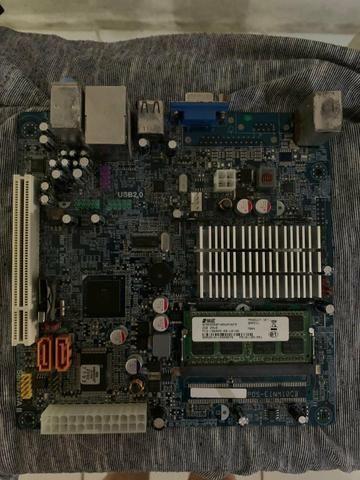 Placa Mãe Com Processador Intel Atom - Foto 2