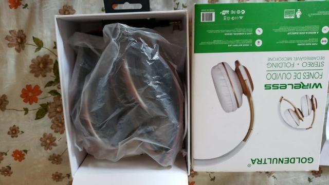 Fone de ouvidos sem fio com entrada para cartão SD - Foto 2