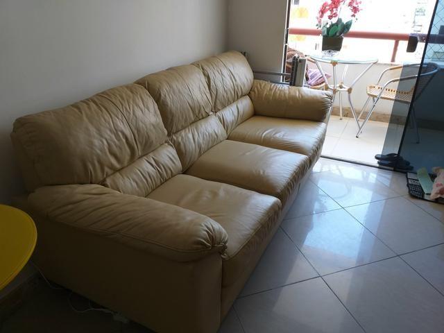 Sofa 3 lugares de couro