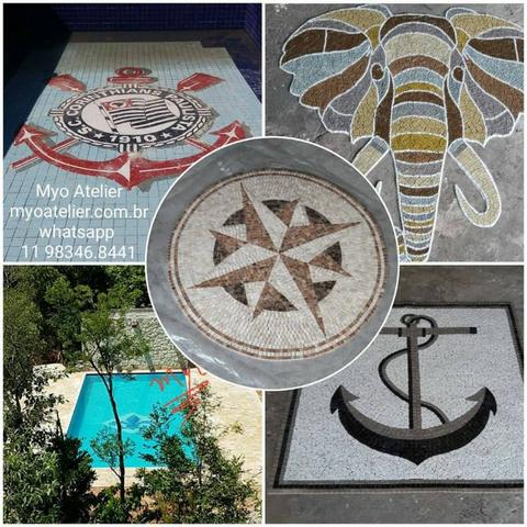 Mosaico Piso Piscina, fundo de piscina - Foto 5