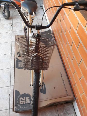 Promoção bicicleta ultra bike aro 26 modelo retrô - Foto 5
