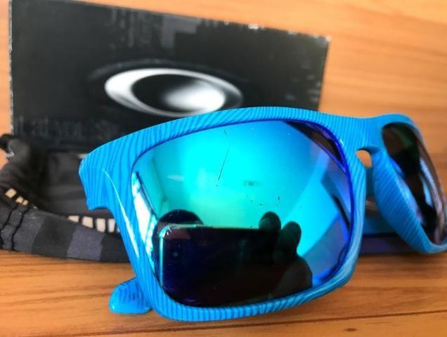 ace0c8de1 Óculos De Sol Oakley Sliver Azul / Sapphire Iridium Original - Referência:  OO9262-17