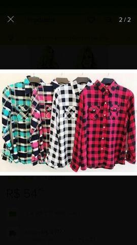 076111c6c4 Blusas camisas femininas xadrez - Roupas e calçados - Cidade ...