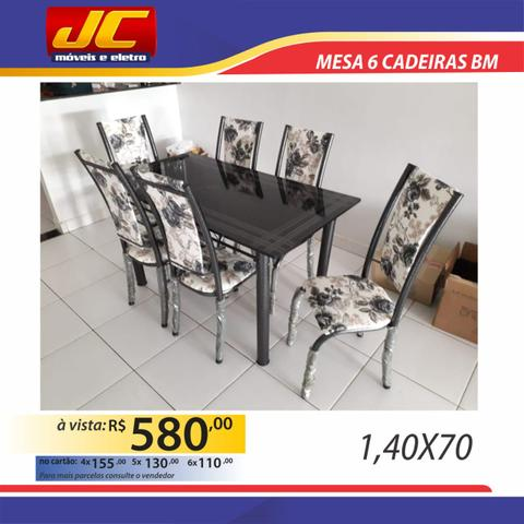 Mesas de 6 cadeiras na promoção a partir de r$499,00 reais - Foto 5