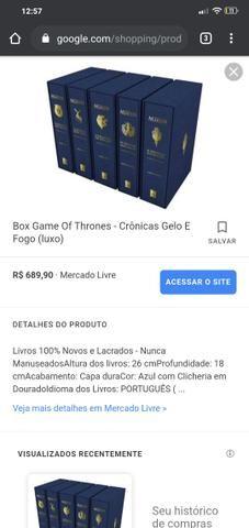Coleção livros as crônicas de gelo e fogo (game of thrones) versão luxo - Foto 4