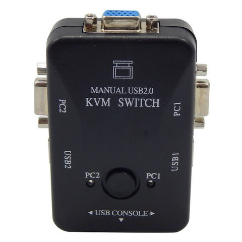 Switch KVM 2 Portas -21UA - USB 2.0 para 2 Monitores - Loja Natan Abreu - Foto 3