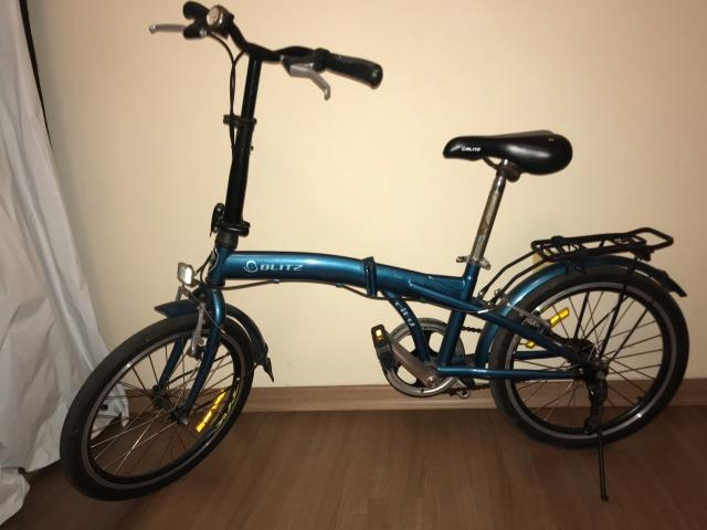 Bicicleta Dobrável Blitz City azul Aro 20,