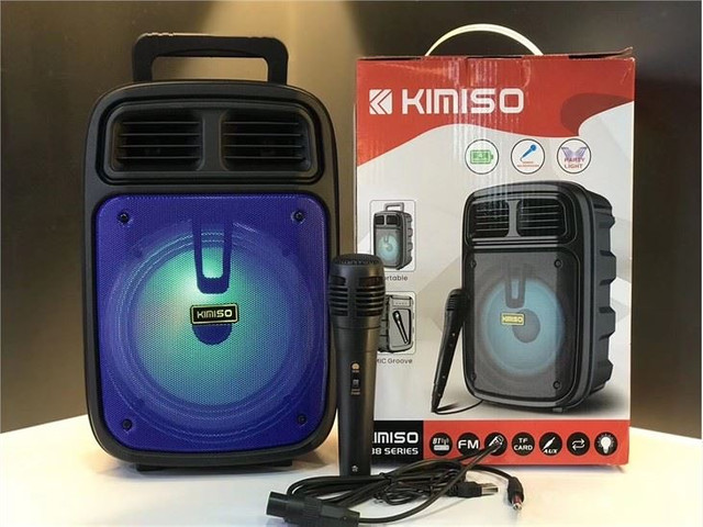 Caixa de Som Kamiso com microfone