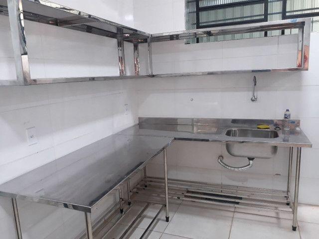 Equipamentos em aço inox sobre medidas para cozinhas industriais bares - Foto 6