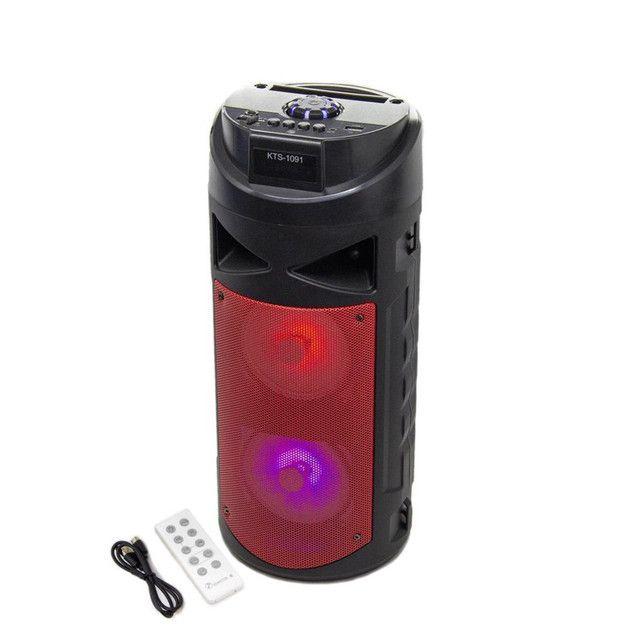 Caixa De Som Com Controle E Led Bluetooth Recarregavel KTS - 1091