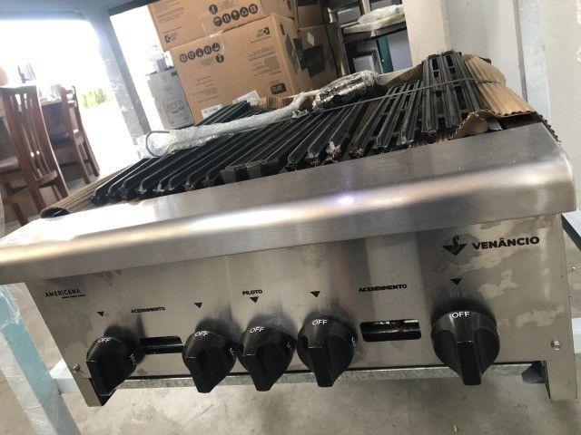 Char broiller 60 e 90 cm pronta entrega *douglas