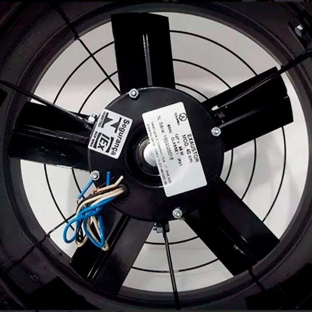 Exaustor Industrial Alta Vazão 40Cm C/ Chave de Reversão 127v ou 220v - Foto 5