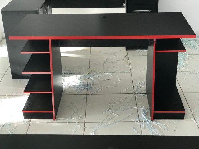 Mesa Gamer Nt 2020 cor preta e vermelho - Foto 2
