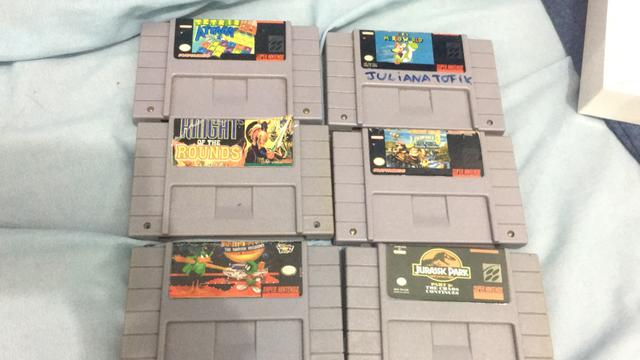 Vendo cartuchos originais de Super Nintendo