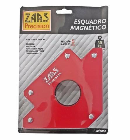 Esquadro Magnético Para Soldador 30 Kg - Zaas - Foto 2