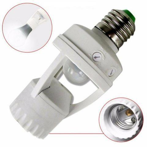 Sensor de Presença E27 com regulagem