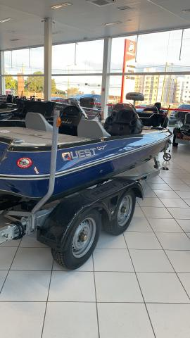 Bass Boat Quest 290 + carreta trucada - Foto 2
