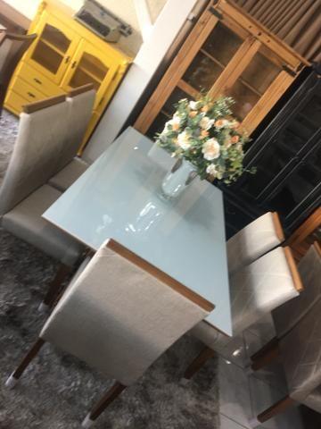 Mesa casual sala de jantar clim e moderna - Foto 2
