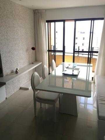 Apt 94 m², nascente, Jatiúca, 3 quartos, 2 vagas, decorado, lazer completo, só 500 mil! - Foto 3