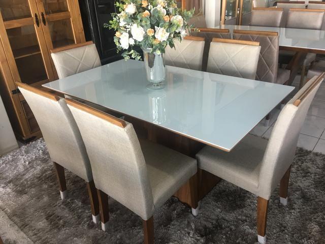 Mesa casual sala de jantar clim e moderna - Foto 4