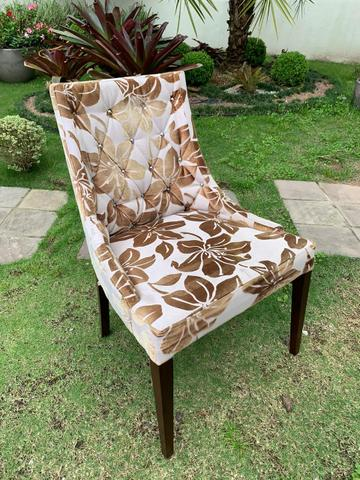 Duas cadeiras estofadas com madeira!!! - Foto 2