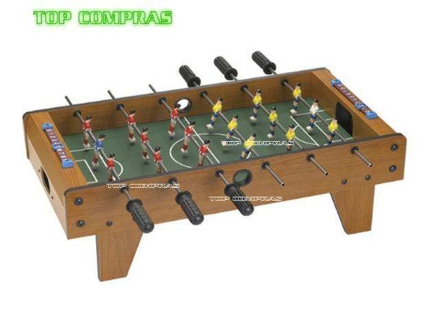 Mini Mesa Pebolim Toto Futebol 18 Jogadores Mdf Nova - desconto somente hoje! - Foto 2