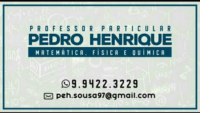 Aulas particulares- Matemática e Física