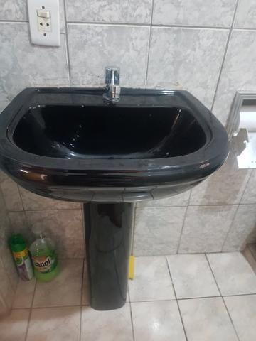 Kit pia e bacia preto para banheiro - Foto 4
