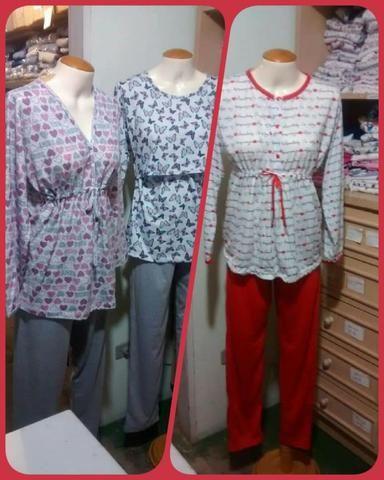 Pijamas para Amamentar/Pos-Cirurgico