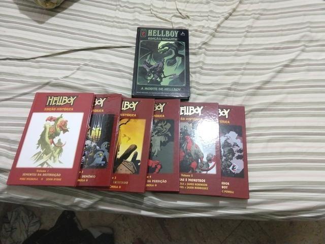 Hellboy edição histórica 1 ao 6 + edição gigante a morte de hellboy  - Foto 2