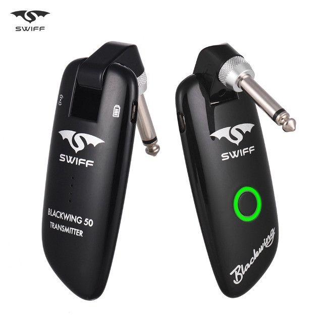 Transmissor de Guitarra Profissional Swiff WS 50 - 100 canais UHF