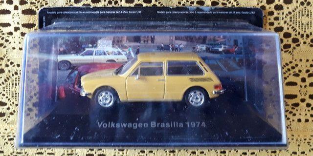 Miniatura Vw Collection VW Brasília 1974 + Fascículo - Foto 2