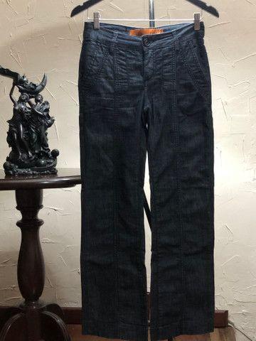 Calça jeans grafite marca Canal - Foto 2