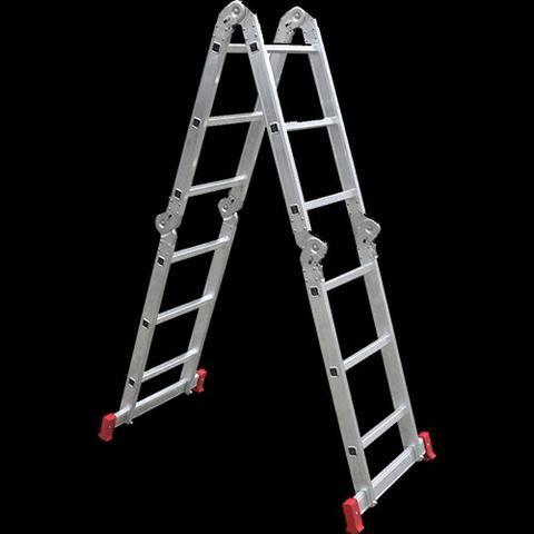 Escada Botafogo Articulada 4x3 12 degraus Lacrada