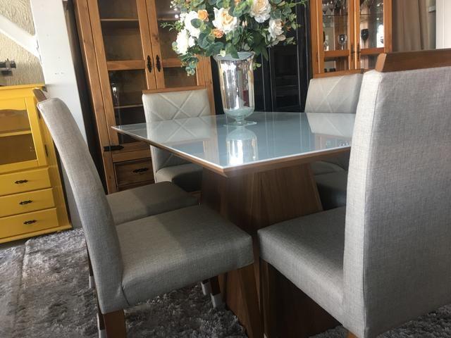 Mesa casual sala de jantar clim e moderna - Foto 3