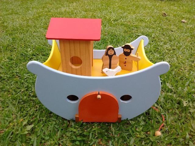 Arca de Noé de madeira - Foto 2