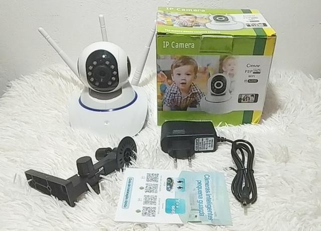 Câmera IP 3 Antenas Robozinho WIFI - Foto 5