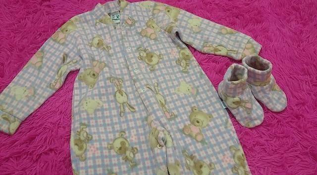 Pijama infantil com pantufa