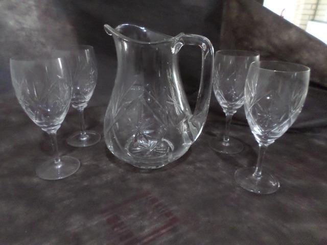 Jogos de copo e jarra em Cristal
