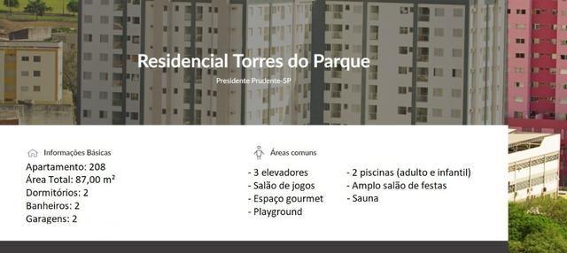 Apartamento no Torres do Parque em Presidente Prudente Próximo a Unoeste Campus 1