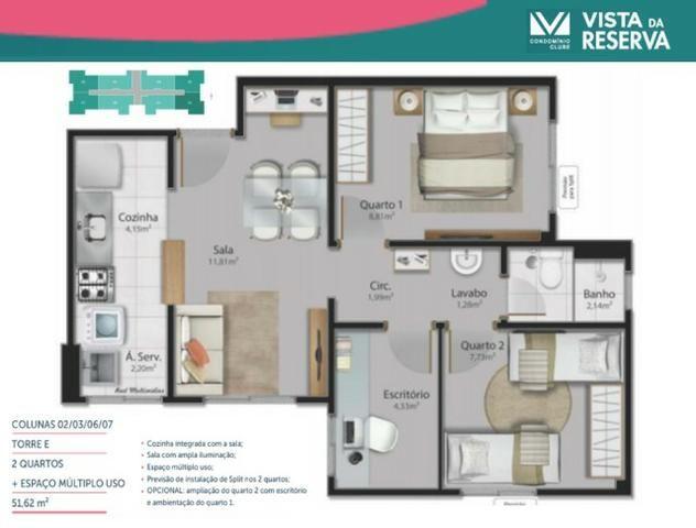 ALX - 15 - Apartamento de 3 Quartos com Lavabo no Vista da Reserva - Foto 5