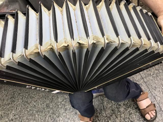 Acordeon / sanfona sacala 120 baixos reduzida elétrica linda original - Foto 6