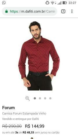 ... 5240f1b7f13 Camisa forum nova - Roupas e calçados - Cj Fabiana e070078fa5383