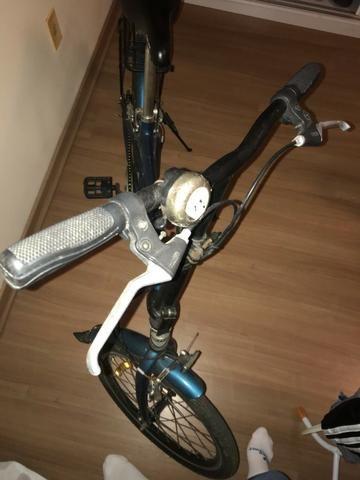 Bicicleta Dobrável Blitz City azul Aro 20, - Foto 4