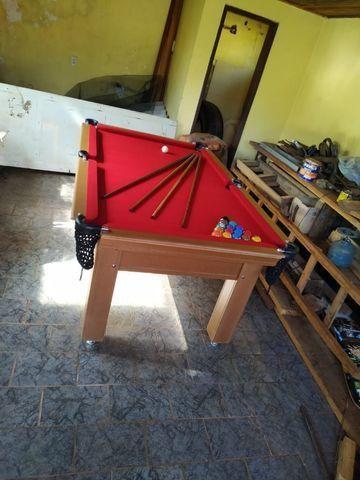 Mesa Tentação Pgto na Entrega Cor Cerejeira Tecido Vermelho Mod. ZCAF4480 - Foto 3
