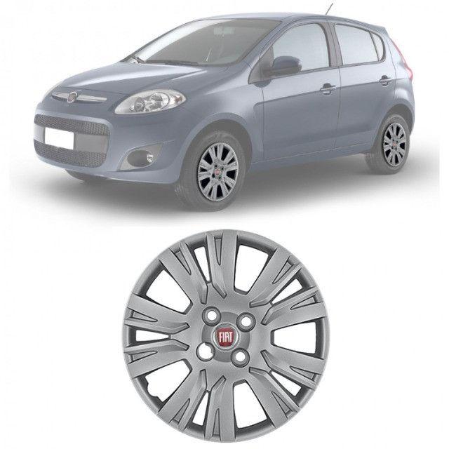 4 rodas de ferro do Fiat Palio com calotas tam. 15 - Foto 2